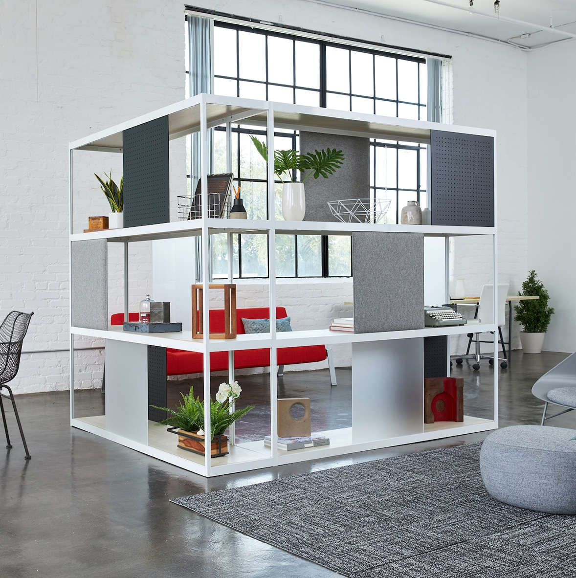 Loftwall Shift Modern Shelving System in Office