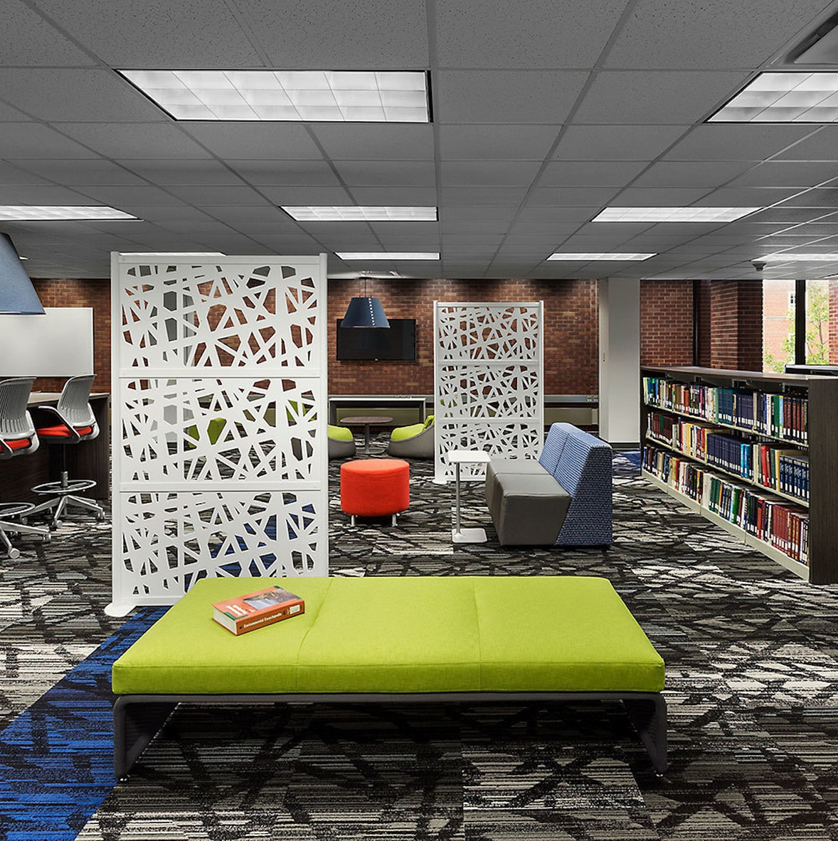 Web Room Divider in Library